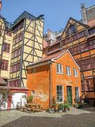 Half timbered houses in Copenhagen Stock Photos
