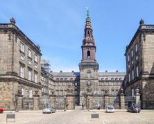 Christiansborg Palace in Copenhagen - stock photo