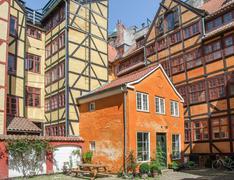 frame houses in Copenhagen - stock photo