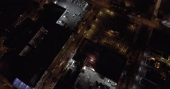Bronx Subway Aerial At Night Stock Footage