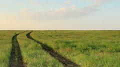 Timelapse sunrise in the steppe, the Rostov region, Russia, (Time Lapse) Full HD Stock Footage