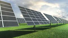 Solar energy panel, Eco-friendly energy. Stock Footage