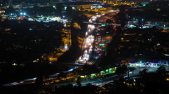 5 Freeway in the San Fernando Valley near Los Angeles Night Timelapse Stock Footage