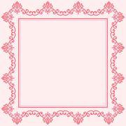 Floral Vector Fine Frame Stock Illustration