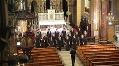 Choir in church - stock footage