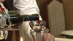 Pouring Wine from Bottle - stock footage