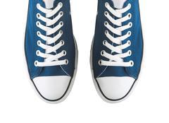 Pair of generic sneakers Stock Photos