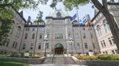City Hall or Hotel de Ville in Quebec City, Quebec, Canada Stock Footage