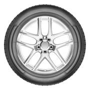 Modern automotive wheel - stock photo