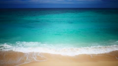 UHD HDR dramatic top view of the beautiful turquoise tropical beach - stock footage