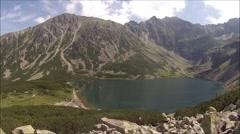 Lake in Polish Tatra Mountains. Stock Footage