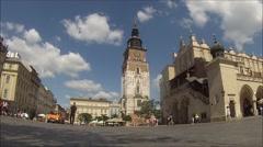 Rynek Glowny Krakow Stock Footage