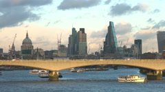 London skyline with The Shard, St Pauls, Southwark, London,UK - stock footage