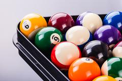 Billiard balls detail - stock photo