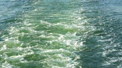Trace to the sea from the ship sailing Stern sea - stock footage