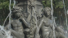 Detail of man and woman in Tourny fountain. Quebec City, Canada. Stock Footage
