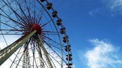 Bottom view on the Ferris wheel - stock footage