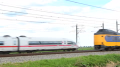 ICE High Speed Train Stock Footage
