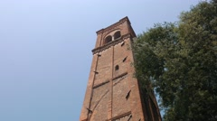 Campanile di San Domenico. Bell tower, Mantua Stock Footage