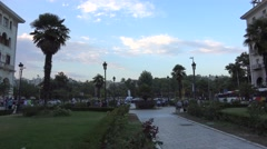 Upper portion  of Aristotelous Square. Thessaloniki, Greece. Stock Footage