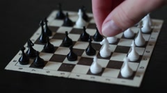 Playing small road chess Stock Footage