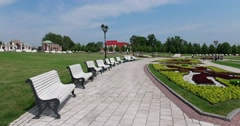 """Landscape design, Museum - reserve """"Tsaritsyno"""", Moscow Stock Footage"""