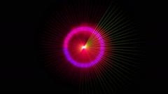 Pulse stars ray Stock Footage