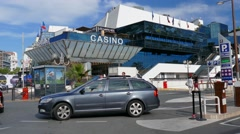 Casino in Cannes France. Stock Footage