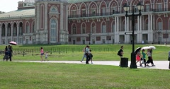 """Grand Palace, Museum - reserve """"Tsaritsyno"""", Moscow Stock Footage"""