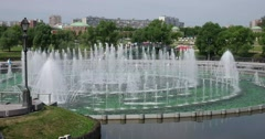 """Catherine Island, fountain, Museum - reserve """"Tsaritsyno"""", Moscow Stock Footage"""