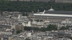 Aerial Shot City of Paris, Scan 60fps Stock Footage