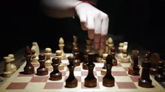 Playing chess in the first person POV Timelapse Stock Footage