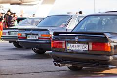 Kyiv, Ukraine - 23 APRIL, 2016: BMW M3, M5, M6 on exhibition of old cars - Ol Stock Photos