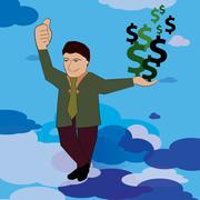 Happy businessman Stock Illustration