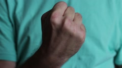 Man's fist demonstration Stock Footage