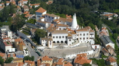 Overlooking the Palace of Sintra Stock Footage