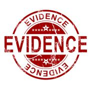 Evidence stamp Stock Illustration