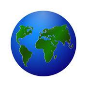 Green planet vector info graphic illustration Stock Illustration