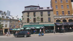 Pub St Patrick in Quebec City, Quebec, Canada. Stock Footage