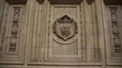 The Royal Albert Hall - wall detail Stock Footage