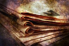 Pile of newspaper grunge concept Stock Illustration