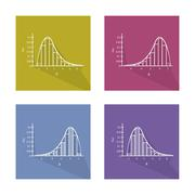 Set Chart of Normal and Not Normal Distribution Curve Stock Illustration