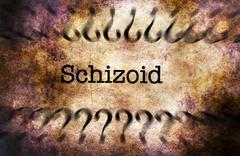 Schizoid disorder grunge concept Stock Illustration