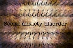 Social anxiety disorder grunge concept Stock Illustration