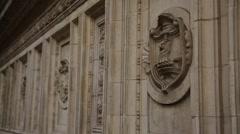 Royal Albert Hall wall detail Stock Footage