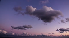 Sunset Time Lapse Clouds Stock Footage
