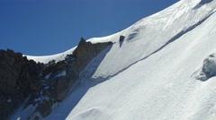 Climbing to Aiguille du Midi Stock Footage