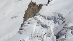 View from a cable car from Aiguille du midi Stock Footage