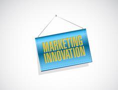 Marketing Innovation hanging banner sign concept - stock illustration