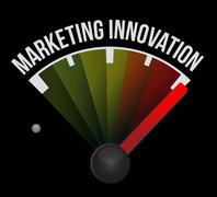 Marketing Innovation meter sign concept - stock illustration
